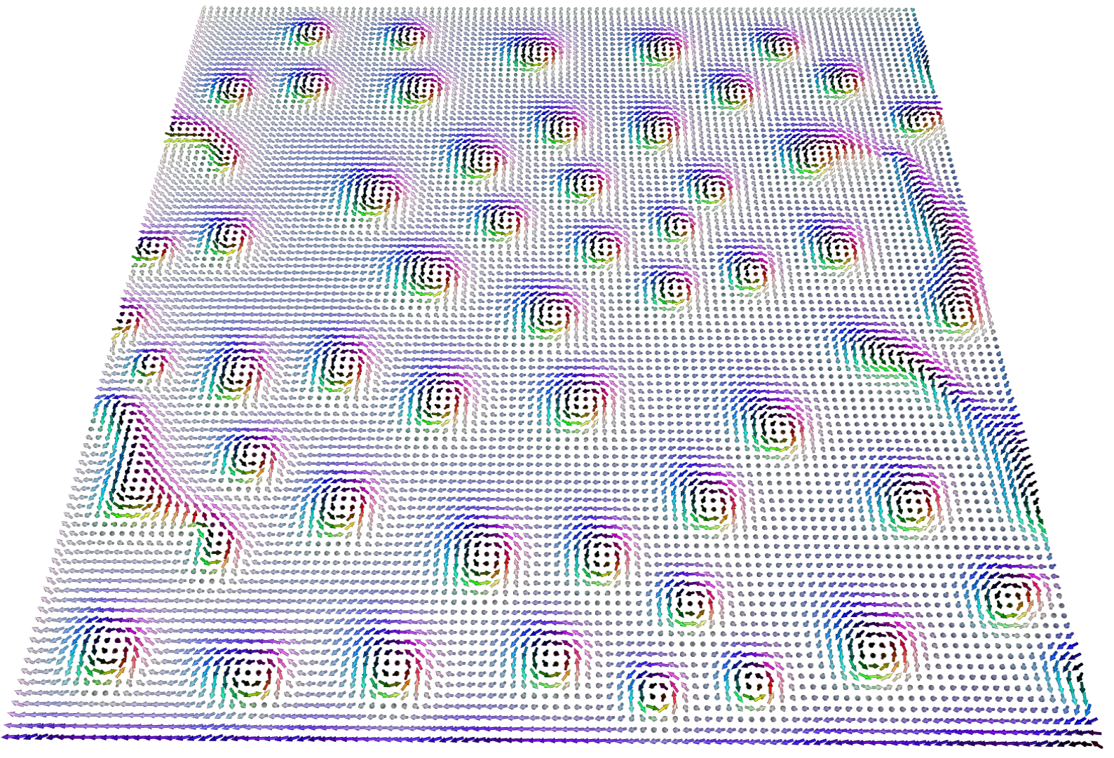 Spin simulation viewed with Spirit Web
